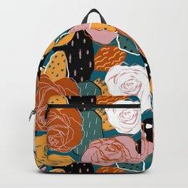 Painterly Dotted Desert Roses Backpack