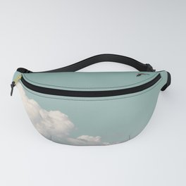 Mint Skies and White Fluffy Clouds #1 Fanny Pack