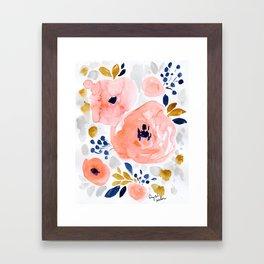 Genevieve Floral Framed Art Print