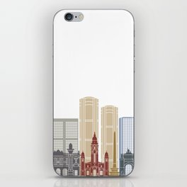 Caracas V2 skyline poster iPhone Skin