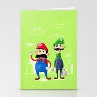luigi Stationery Cards featuring Mario & Luigi by Jorge De la Paz