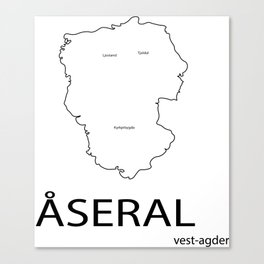 map of åseral Canvas Print