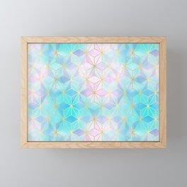 Iridescent Glass Geometric Pattern Framed Mini Art Print