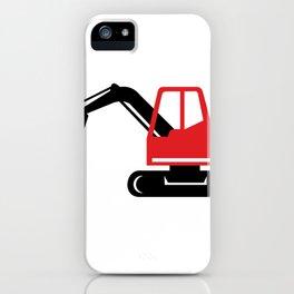 Mechanical Excavator Digger Retro Icon iPhone Case