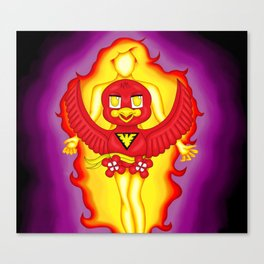 Dark Phoenix Bird Canvas Print