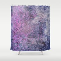 boho Shower Curtains featuring Boho Deco by cafelab