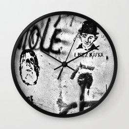 LISEZ KAFKA in PARIS Wall Clock