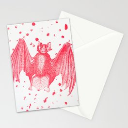 Pink Bats Paint Pattern Stationery Cards