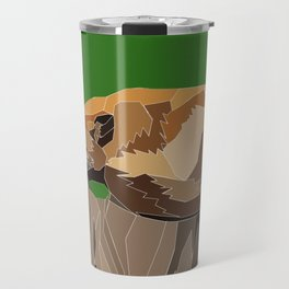Precarious Snooze Low Poly Travel Mug