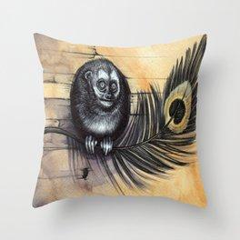 Owl Monkey Throw Pillow