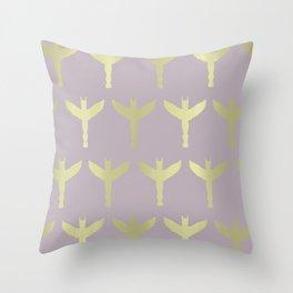 gold totem Throw Pillow