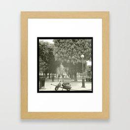 Paris Moped Framed Art Print