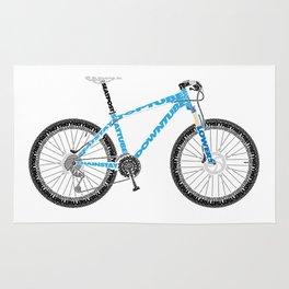 Typographical Anatomy of a Mountain Bike Rug