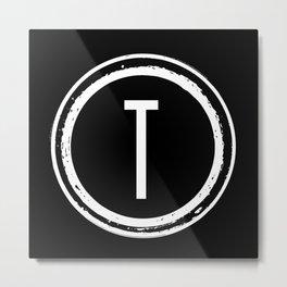Letter T Monogram Metal Print