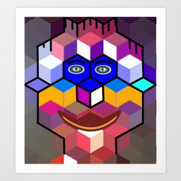 cube face Art Print