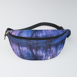Enchanted Forest Lake Purple Blue Fanny Pack