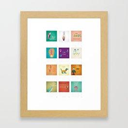 Calendario / Calendar / Calendrier 2013 Framed Art Print