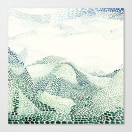 Meeting mountains Canvas Print