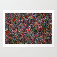 brain Art Prints featuring Brain by C Z A V E L L E