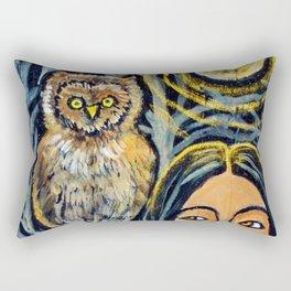 Wisdom Owl * Nature Maiden Rectangular Pillow