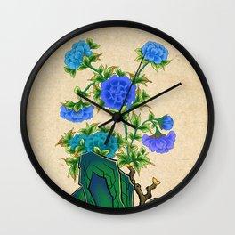 Minhwa: Peonies D Type  Wall Clock