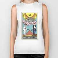 tarot Biker Tanks featuring The Lovers - Tarot Card by kamonkey