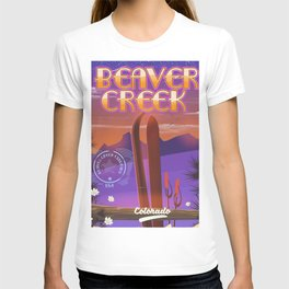 Beaver Creek Ski Colorado vintage travel poster. T-shirt