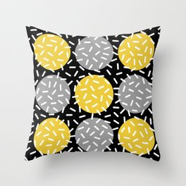 Memphis Polka Dot Sprinkles Pattern 133 Throw Pillow