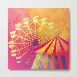 The Fair is in Town - Kitschy Abstract Watercolor Metal Print