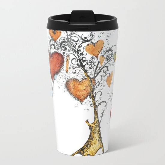 Tree of hearts Metal Travel Mug