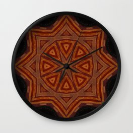 Sahara Nights // Visionary Art Mandala Sacred Geometry Star Circle Energy Healing Consciousness Wall Clock