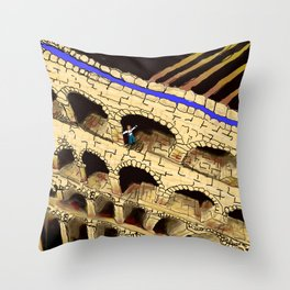The Dreaded Aqueduct Throw Pillow