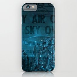 Mystery Air Objects Seen In The Sky Over LA Contemporary Art Portrait iPhone Case