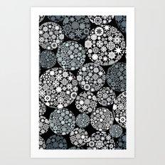 Snow flowers. Art Print