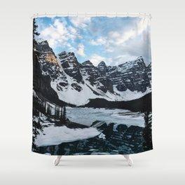 Left my heart in Moraine lake Shower Curtain