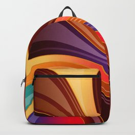 Abstract Colorful Swirls Backpack