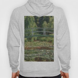 1899-Claude Monet-The Japanese Footbridge and the Water Lily Pool, Giverny-89 x 93 Hoody