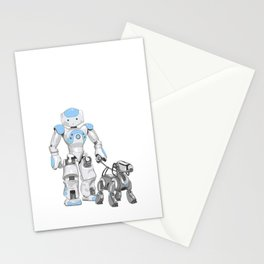 The Dog Walker. (Blue) Stationery Cards