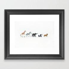 ANIMALS IN LINE N2 Framed Art Print