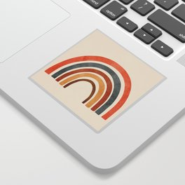 Abstract Rainbow 88 Sticker