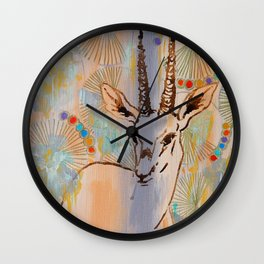 Gazelle Wall Clock