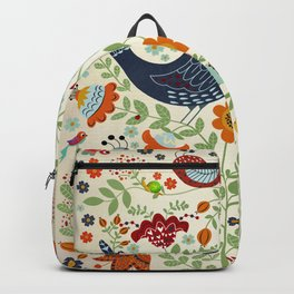 BIRDS AND FLOWERS Backpack