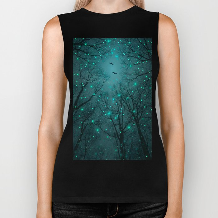 One by One, the Infinite Stars Blossomed Biker Tank