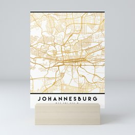 JOHANNESBURG SOUTH AFRICA CITY STREET MAP ART Mini Art Print