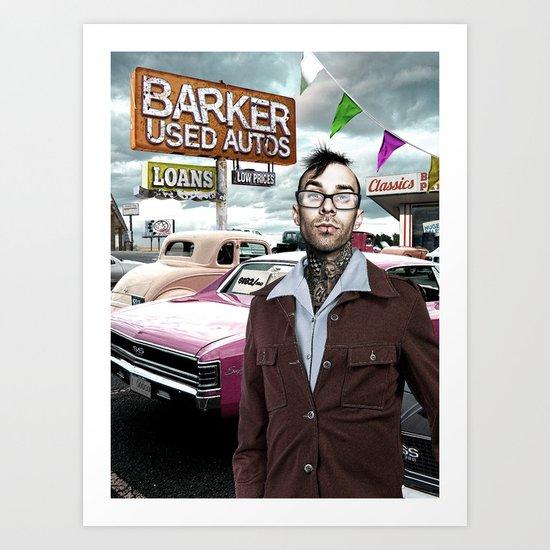 Barker Used Cars Art Print