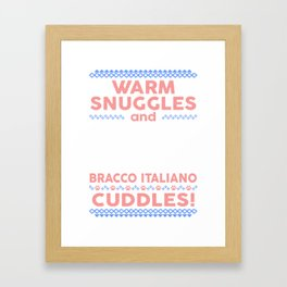 Bracco Italiano Ugly Christmas Sweaters Framed Art Print