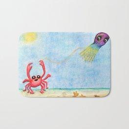 The E-Sea Life - Watercolor Bath Mat