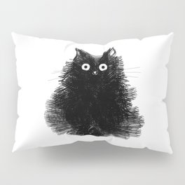 Duster - Black Cat Drawing Kissenbezug