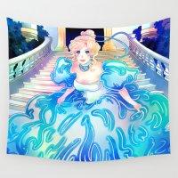 cinderella Wall Tapestries featuring Cinderella by Golden Crown
