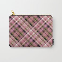 Olive-pink plaid Carry-All Pouch